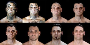 Former skinhead who had facial tattoos removed