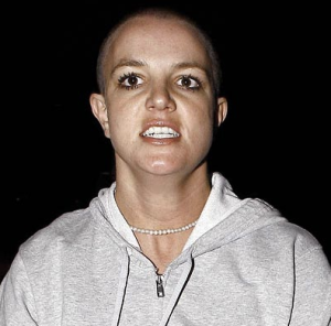 Britney Spears just before she was admitted to hospital