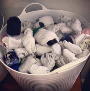 The sock bucket is sorted