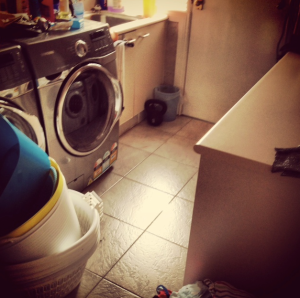 The laundry is clean and there are NO clothes to be washed!