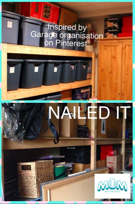 Poorly organised garage wall