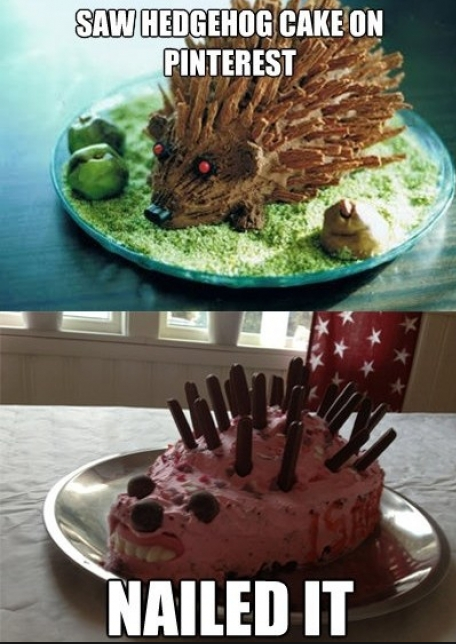 The hedgehog cake - this Mum Nailed it!
