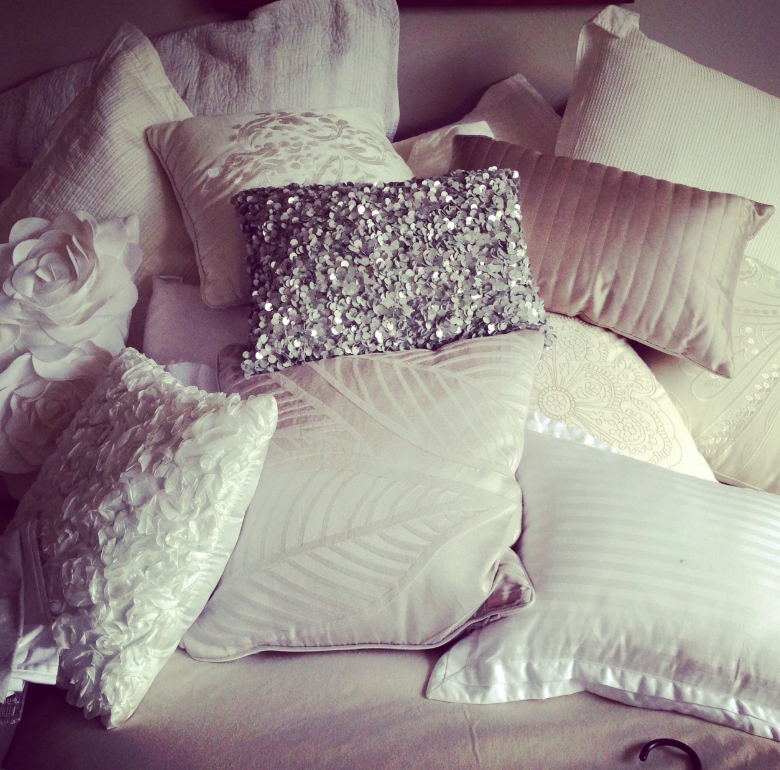 THis is a king sized bed. There is no where to put anything - its cushion heaven