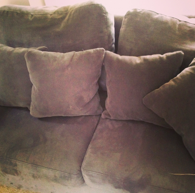These cushions are more pointless as they're the same colour as the sofa