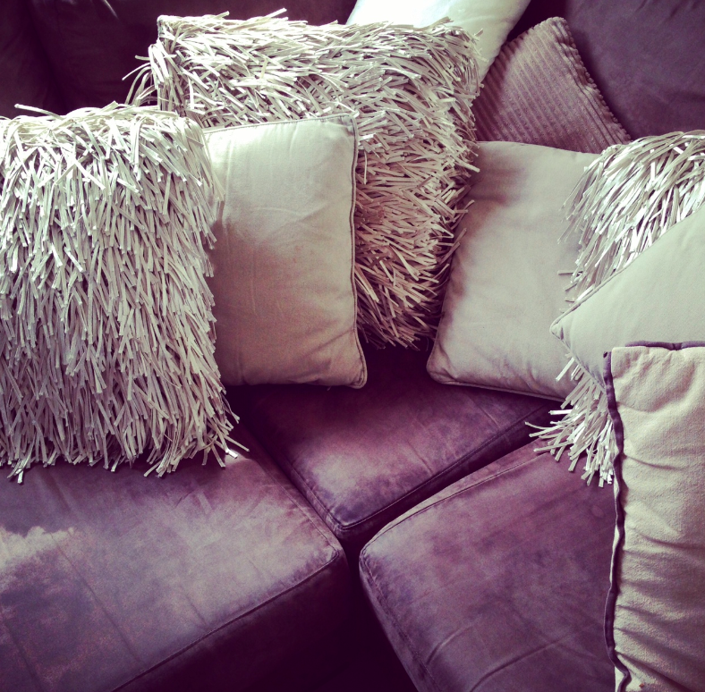 The new shaggy dog cushions that I have wanted since....forever.